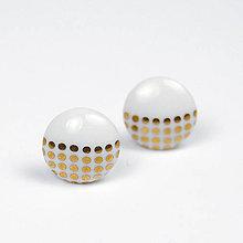 Náušnice - Napichovacie náušnice bodky / Pecky gold - 8161887_