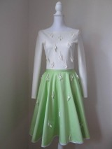 Šaty - Neonovozelené šaty s lístkami - 8160144_