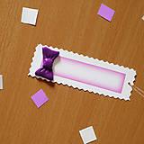 - Ozdobné menovky na darček  (mašlička) - 8160514_