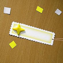 Papiernictvo - Ozdobné menovky na darček  (hviezda) - 8159447_