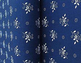 Textil - Bavlnené plátno-modrotlač - 8164466_