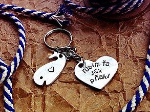 Kľúčenky - ĽÚBIM ŤA JAK ... - 8164623_