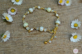 Náramky - Vintage náramok s riečnou perlou - 8162846_
