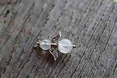 Iné šperky - prívesok anjelik - ruženín 2 - 8162958_