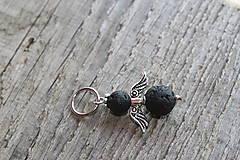 Iné šperky - prívesok anjelik - láva - 8162975_