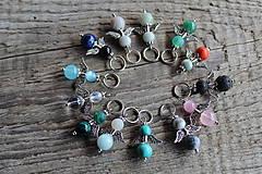 Kľúčenky - prívesok anjelik - Aventurín - 8163359_