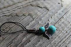 Kľúčenky - prívesok anjelik - Aventurín - 8163361_