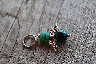 Iné šperky - prívesok anjelik - Chryzokol - 8163312_