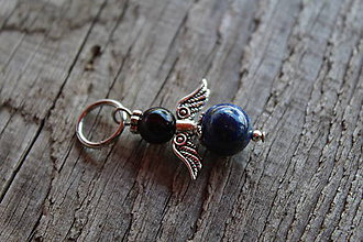 Kľúčenky - prívesok anjelik - Lapis Lazuli - 8163391_