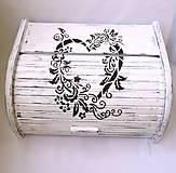 Nádoby - Drevený chlebník- Srdce domova - 8164165_