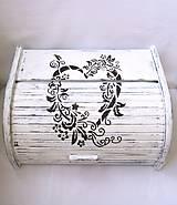 Nádoby - Drevený chlebník- Srdce domova - 8164172_