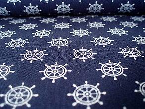 Textil - Bavlnená látka Marine - kormidlo - 8163843_