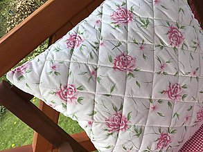 Úžitkový textil - Prešivany vankus s letným motívom 50x50 cm - 8162435_