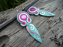 - Soutache náušnice Sweet Pacific Sea - 8163802_