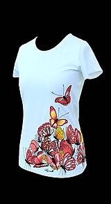 Tričká - Tričko s motýlikmi - Žúr motýľov - apricot - 8163048_
