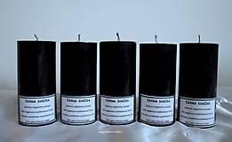 - Čierna sviečka parafínová - malá - 8164334_