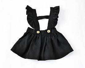 Detské oblečenie - Sukňa na traky čierna - 8163277_