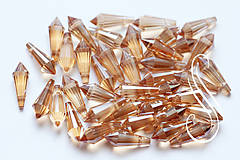Korálky - brúsená kvapka gold 8x20 - 8164860_