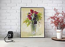Obrazy - Kytica - akryl na tvrdom kartóne - 8162830_