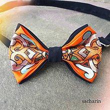 Doplnky - Lietavec pomarančový- hodvábny maľovaný motýlik - 8164450_