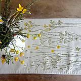 Štóla na stôl - zakvitnutá lúka