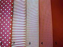 Textil - Bavlnená látka - kombinácia - vínová, bordo - 8163145_