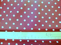 Textil - Bavlnená látka - kombinácia - vínová, bordo - 8163148_