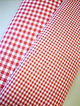 Textil - Bavlnená látka - kanafas - červený - 8163281_