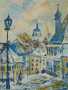 Obrazy - Banská Štiavnica - slnko na snehu - 8164886_