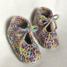 Topánočky - Háčkované papučky Tutti Frutti - 8164508_