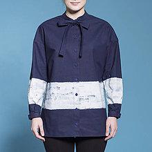 Košele - modrotlačová košeľa PRUH - 8164438_
