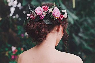Ozdoby do vlasov - Kvetinový boho polvenček