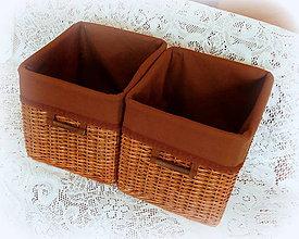 Košíky - Košík hnedý - 8163196_