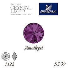 Korálky - SWAROVSKI® ELEMENTS 1122 Rivoli - Amethyst, SS 39(8mm), bal.1ks - 8163618_