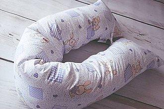 Textil - Medzinožník - valec na dojčenie fialový so zajkami - 8166985_