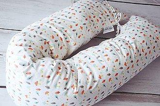 Textil - Medzinožník - valec na dojčenie huby a listy - 8167056_