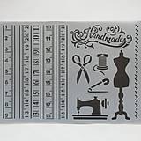 Pomôcky/Nástroje - Šablóna Stamperia - 20x30 cm - šitie, handmade, nožnice - 8166414_