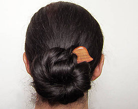 Ozdoby do vlasov - Drevená miniihlica do vlasov - 8166241_