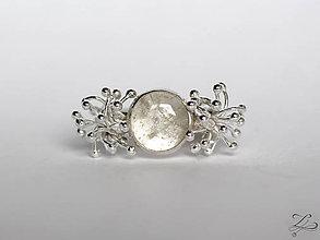 Prstene - Strieborný prsteň s kremeňom - Žblnkot - 8167152_