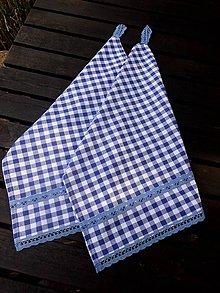 Úžitkový textil - UTĚRKY ... modré 2 ks - 8167293_
