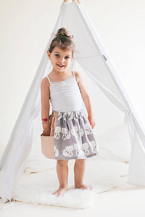 Detské oblečenie - Detská sukňa s maxi vreckami