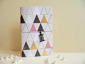 Papiernictvo - Zápisník - trojuholníky - 8166276_