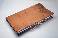 Papiernictvo - Kožený obal na knížku - kampak jdeš - 8165295_