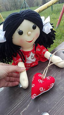 Hračky - Handrová bábika Klárka - 8167711_