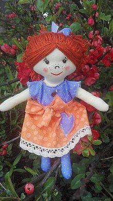 Hračky - Handrová bábika Ryšavka - 8168104_