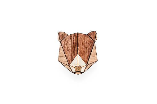 Drevená brošňa Bear Brooch