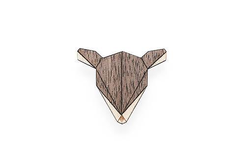 Drevená brošňa Doe Brooch