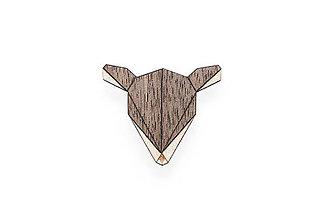 Odznaky/Brošne - Drevená brošňa Doe Brooch - 8169219_
