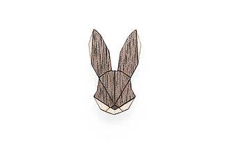 Odznaky/Brošne - Drevená brošňa Hare Brooch - 8169242_