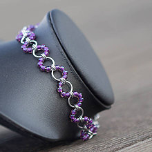 Náramky - Nákotník vlnky fialový - 8168183_